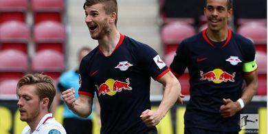 Hasil Bundesliga - Timo Werner Hat-trick, Pecahkan Rekor Pribadi