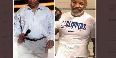 Mike Tyson Kian Bugar, Beratnya Sudah Hampir Sama Saat Gigit Telinga Evander Holyfield