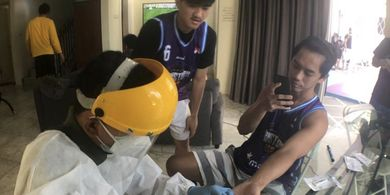 Skuad Amartha Hangtuah Jalani Rapid Test Usai Jalani Isolasi