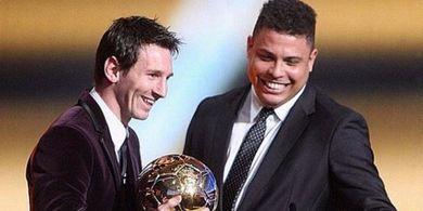 Cuma Lionel Messi yang Bisa Samai, Ronaldo Nazario Bikin Repot Teman Saat Rayakan Gol