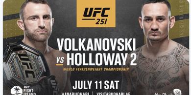 Hasil UFC 251 - Cuma Menang Angka atas Max Holloway, Volkanovski Pertahankan Gelar