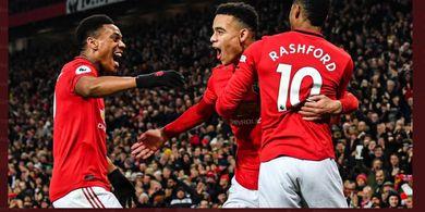 Hasil Babak I - Tanpa Trio Lini Depan, Manchester United Kesusahan Cetak Gol