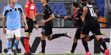 Hasil Liga Italia - Bantai Lazio 3-0, AC Milan Tembus Zona Eropa