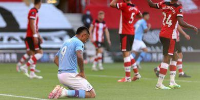 Hasil Liga Inggris - Gara-gara Blunder, Man City Keok dari Southampton