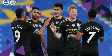 Bantai Brighton 5-0, Manchester City Layak Bermain di Liga Champions