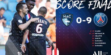 PSG Bantai Le Havre 9-0, 5000 Orang Sudah Bisa Nonton Sepak Bola Lagi