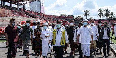 Inspeksi Stadion Kapten I Wayan Dipta, PUPR Targetkan Renovasi Selesai Maret 2021