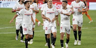 Hasil Babak I - Kurung Pertahanan AS Roma, Sevilla Unggul Dua Gol
