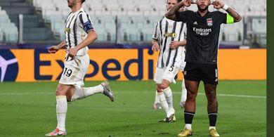 Hasil Babak I Juventus vs Lyon - Panenka Depay Dibalas Penalti Ronaldo