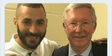 Kasih Tak Sampai Ferguson ke Karim Benzema, Gagal ke Man United karena Hal Ini