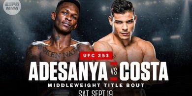 Jadwal UFC 253 - Israel Adesanya vs Paulo Costa pada Minggu Pagi