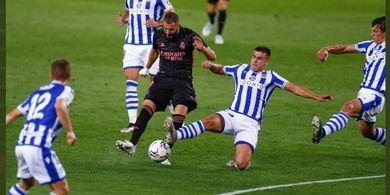 Babak I Sociedad vs Real Madrid - Karim Benzema Masih Mandul dalam Laga Ke-350