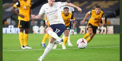 Hasil Babak I - De Bruyne dan Foden Bawa Man City Ungguli Wolverhampton