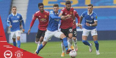 Hasil Babak I - Bruno Fernandes Bantu Brighton dan Man United Cetak Gol