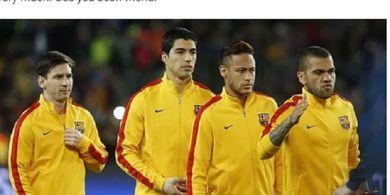 Luis Suarez Didepak, Neymar dan Dani Alves Ikut Lionel Messi Kecam Tindakan Jahat Barcelona