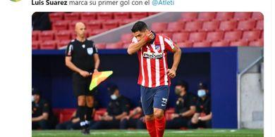 Hasil Liga Spanyol - Debut Manis Luis Suarez Cetak 2 Gol dan 1 Assist, Atletico Madrid Lumat Klub Putra Luis Milla 6-1