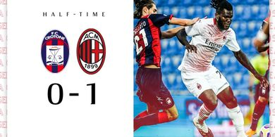 Babak I Crotone vs AC MIlan - Penalti Franck Kessie Bawa Rossoneri Unggul 1-0