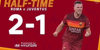 Babak I AS Roma vs Juventus - Tangan Jorok dan Serangan Balik, Tim Zebra Tertinggal