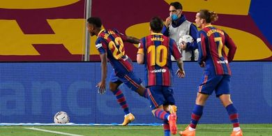 Babak I Barcelona vs Villarreal - Lionel Messi Penalti, Ansu Fati 2 Gol, Blaugrana Cetak 3 Gol dalam 20 Menit