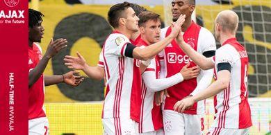 Akibat Peristiwa Menit 52, 7 Pemain Cetak Gol, Ajax Ukir Sejarah Skor Liga Belanda