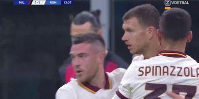 Blunder Pengganti Donnarumma Berujung Gol, AC Milan Ditahan Imbang AS Roma di Babak I