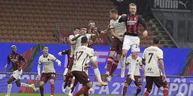Hasil Liga Italia - Drama 6 Gol, Brace Zlatan Ibrahimovic Tak Cukup Menangkan AC Milan atas AS Roma