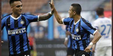 Susunan Pemain Sassuolo Vs Inter Milan - Istirahatkan Lukaku, Conte Duetkan Lautaro dengan Sanchez