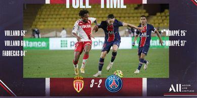 Hasil Liga Prancis - Kolaps Langka, PSG Di-Comeback AS Monaco setelah Unggul 2-0