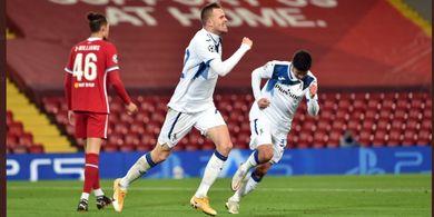 Hasil Liga Champions - Liverpool Diajari Atalanta Main Bola, Kalah 0-2 dalam 5 Menit