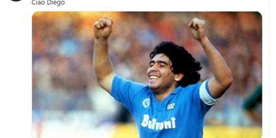 Diego Maradona Meninggal Dunia, Napoli Tidak Punya Kata-kata