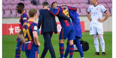 Pelatih Barcelona Beri Kabar Terbaru Soal Kondisi Clement Lenglet