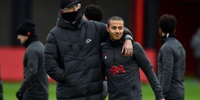 Prediksi Line-up Liverpool Vs Manchester United - Adu Mejik Lini Tengah, Thiago Alcantara Vs Bruno Fernandes