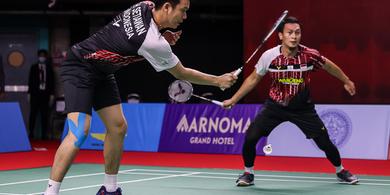 Link Live Streaming Thailand Open II 2021 - Kans Ahsan/Hendra pada Laga Derbi