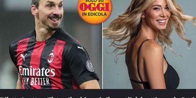 Striker Milan Ibrahimovic Berisik Asyik Lagi dengan Presenter Cantik