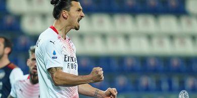 Cetak Brace ke Gawang Cagliari, Zlatan Ibrahimovic Samai Gol Erling Haaland