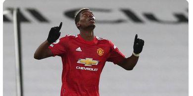 Hasil Liga Inggris - Pogba Cetak Gol Jarak Jauh Pertama dengan Kaki Kiri, Manchester United Pecundangi Fulham