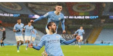Hasil Liga Inggris - Bernardo Silva Pecah Telor, Man City Tekuk Aston Villa Usai 36 Percobaan