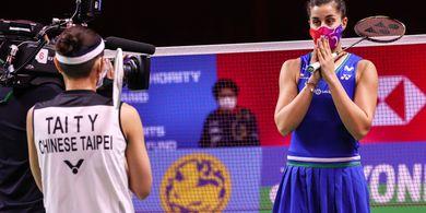 Hasil Final Thailand Open II 2021 - Tumbangkan Tai Tzu Ying Lagi, Carolina Marin Perbaiki Rekor
