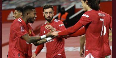 Apa yang Dibilang Cavani kepada Bruno Fernandes sebelum Cetak Gol Kemenangan Man United?