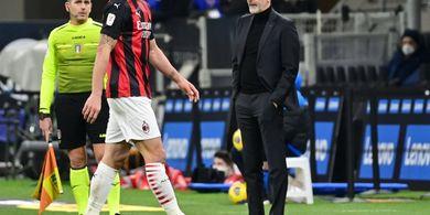 Kartu Merah Zlatan Ibrahimovic Kacaukan Duel AC Milan vs Inter Milan
