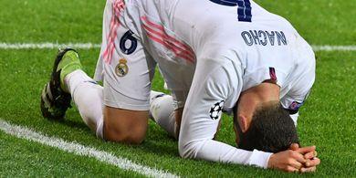 Lini Depan Tumpul Tanpa Benzema, Real Madrid Memble Hadapi 10 Pemain Atalanta di Babak I