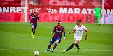 Dibantu Lionel Messi, Bocah Nakal Bawa Barcelona Ungguli Sevilla di Paruh Pertama