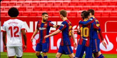 Taklukkan Sevilla, Asa Barcelona Jadi Juara Liga Spanyol Masih Ada