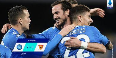 Hasil dan Klasemen Liga Italia - Napoli Makin Garang di Kandang dengan 10 Orang, Inter Masih Dingin di Puncak