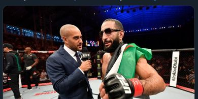 Hasil UFC 263 - Petarung Palestina Belal Muhammad Kalahkan Jagoan 'Take Down'