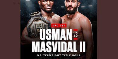 UFC 261 - Kamaru Usman Ingatkan Jorge Masvidal Soal Nasib Beruntungnya