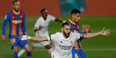 Cetak Gol ke Gawang Barcelona, Karim Benzema Sejajar Cristiano Ronaldo dan 2 Eks Bomber Real Madrid