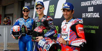 Hasil MotoGP Portugal 2021 - Fabio Quartararo Trengginas, Marc Marquez Pesakitan