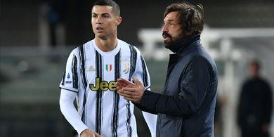 Gara-gara Andrea Pirlo, Tak Ada Rekor Baru untuk Cristiano Ronaldo