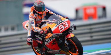Hasil Kualifikasi MotoGP Prancis 2021 - Nyaris Pole Position, Marc Marquez Didepak 5 Pembalap di Saat-saat Terakhir